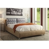 Lightriver Queen Bed, Light Brown Linen