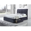 Drorit Queen Bed with Storage, Dark Gray Fabric
