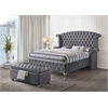 Rebekah Queen Bed, Gray Fabric