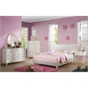 Dorothy Twin Bed (Padded), Pearl White PU & Ivory