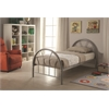 Silhouette Twin Bed, Silver