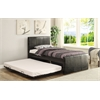 Jandale Twin Bed & Trundle, Black PU