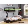 Zazie Twin/Full Bunk Bed, Sandy Black