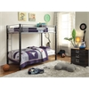 Mirella Twin/Twin Bunk Bed, Silver & Brown Coffee