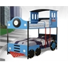 Tobi Twin/Twin Bunk Bed, Blue & Black Train