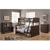 Hector Twin/Full Bunk Bed, Antique Charcoal Brown
