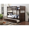 Hector Twin/Twin Bunk Bed, Antique Charcoal Brown