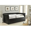 Misthill Daybed & Trundle, Black PU