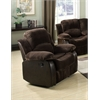 Masaccio Recliner, Brown Champion & PU