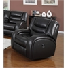 Dacey Glider Recliner (Motion), Black Bonded Leather Match