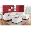 Kiva Ottoman with Storage, White Bonded Leather Match