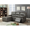 Artha Sectional Sofa (Motion), Gray Bonded Leather Match