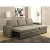 Derwyn Sectional Sofa, Light Brown Linen