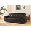 Sanya Adjustable Sofa with Storage & 2 Cup Holders , Brown PU