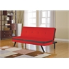 Penly Adjustable Sofa, Red & Black PU