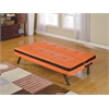 Penly Adjustable Sofa, Orange & Black PU