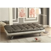 Baka Adjustable Sofa, Dark Silver PU