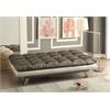 Baka Adjustable Sofa, Dark Silver PU