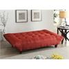 Baines Adjustable Sofa, Red Linen