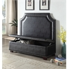 Fadey Settee with Storage, Espresso PU