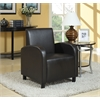 Maxie Accent Chair, Black PU
