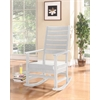 Kloris Rocking Chair, White PU