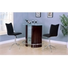 Vindex Bar Chair with Swivel & Lift (Set-2), Black PU & Chrome