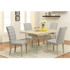 Glassden Side Chair (Set-2), Blue & Light Oak