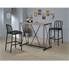Jodie Bar Chair (Set-2), Black PU & Antique Black