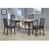 Caitlin Dining Table, Rustic Oak & Black