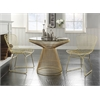 Rasia Dining Table, Gold & Clear Glass