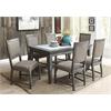 Freira Side Chair (Set-2), Bronze Fabric & Antique Gray