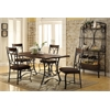 Hakesa Dining Table, Cherry & Antique Black
