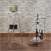 Badin Serving Cart, Clear Glass & Chrome