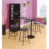 Mant Stool, Black -Set of 2