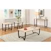 Isidore Sofa Table, Natural & Brown Sand