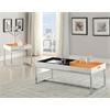Maisie Coffee Table, White & Chrome