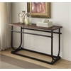 Debbie Sofa Table, Cherry & Black