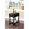 Qrabard Side Table, Black & Oak
