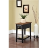Jeana Side Table, Black & Oak