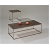 Cecil End Table, Walnut & Brushed Nickel