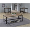 Caitlin Coffee Table, Rustic Oak & Black