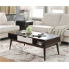 Christa Coffee Table, Walnut and White