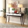 Christa Sofa Table, Walnut and White
