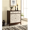 Onirie Console Table, Fabric & Dark Espresso