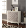 Glejery Console Table, Fabric & Light Cream