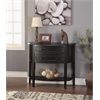 Poshire Console Table, Black