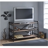 Caitlin TV Stand, Rustic Oak & Black