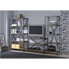 Jodie TV Stand, Rustic Oak & Antique Black