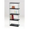 Baxter Bookcase, Black & Clear Glass